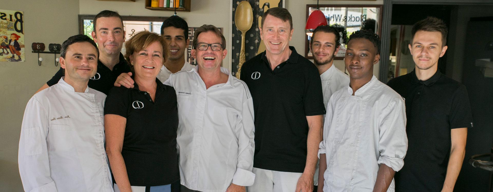 equipe restaurant gastronomique et bistrot daniel desavie à valbonne sophia antipolis