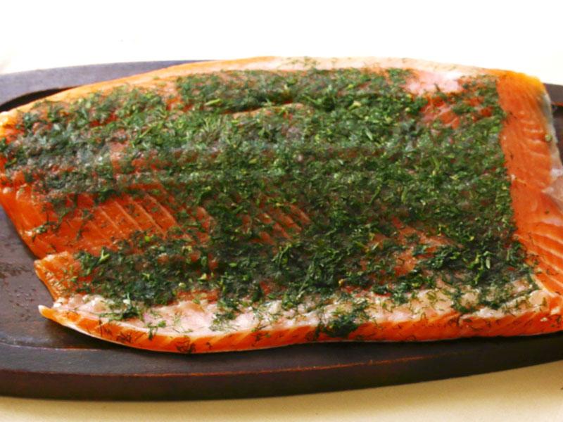 saumon gravelax label rouge daniel desavie restaurant gastronomique et bistrot à Valbonne sophia antipolis